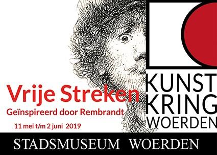 Tentoonstelling stadsmuseum Woerden: Vrije Streken, Kunstkring Woerden geïnspireerd door Rembrandt